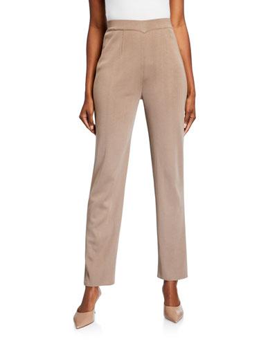 Plus Size Straight-Leg Knit Pants