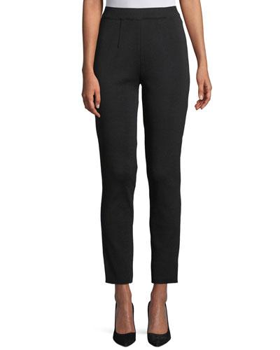 Petite Slim-Leg Pull-on Ankle Pants