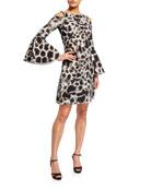 Chiara Boni La Petite Robe Adut Printed Cold-Shoulder