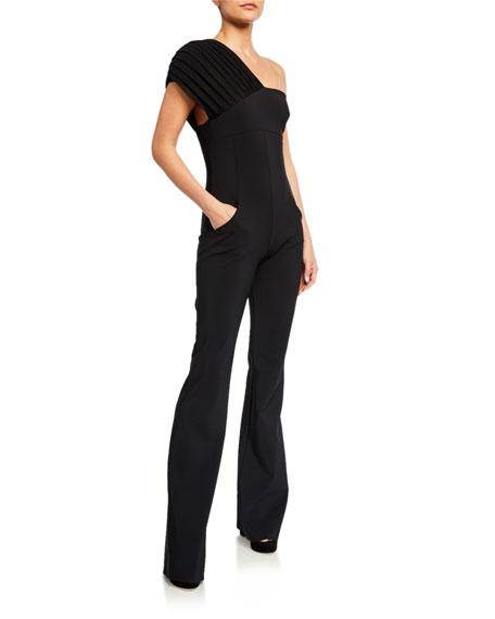 Chiara Boni La Petite Robe Leika One-Shoulder Illusion Jumpsuit