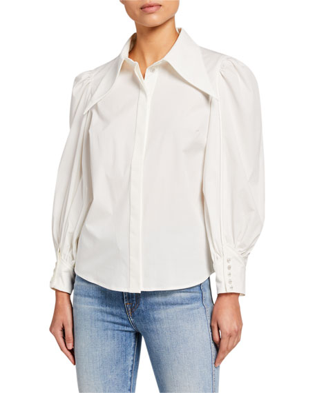 C/MEO Esteemed Blouson-Sleeve Shirt
