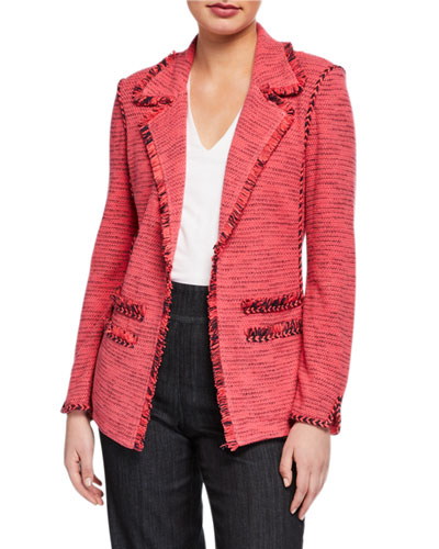 Petite Suite Blazer with Fringe Detail & Pockets