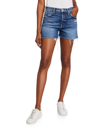 The Dutchie Frayed Denim Shorts