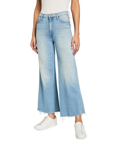 MOTHER Sunburst Roller Ankle Jeans w/ Unfinished Hem