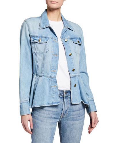 Button-Front Flounce Jacket