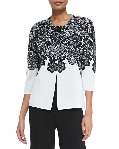 Misook Plus Size Lace Jacket