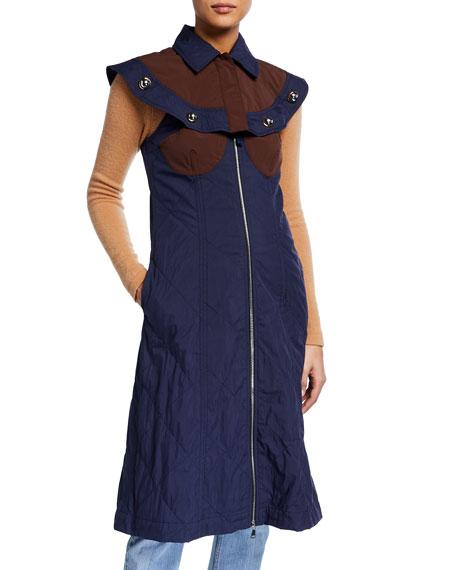 Moncler Genius Collared Capelet Dress