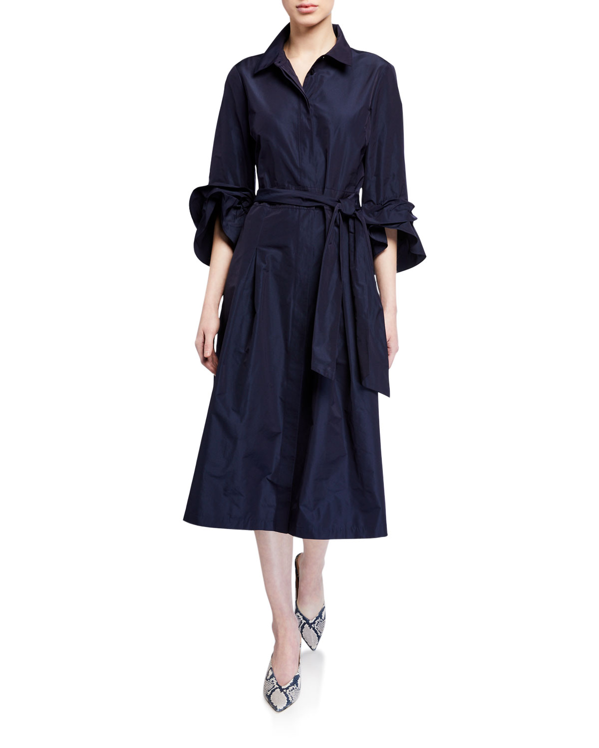 Lafayette 148 Dresses HUGHES EMPIRICAL TECH SHIRTDRESS