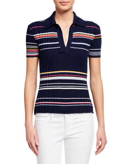 JED Harmony Striped Multi Rib Polo Shirt