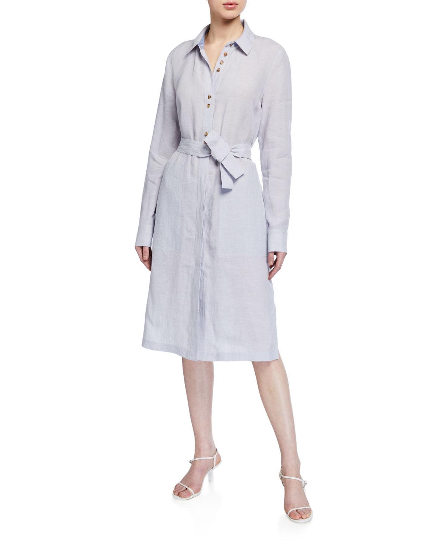Lafayette 148 Dresses MICHLLE ILLUSTRIOUS LINEN DUSTER DRESS