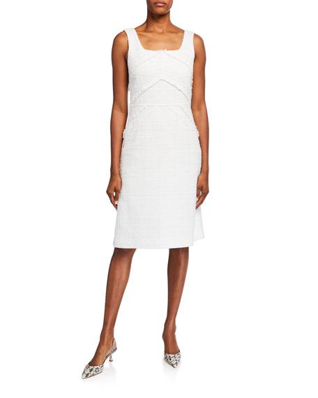 Lafayette 148 New York Jennette Harlow Tweed Sleeveless Dress