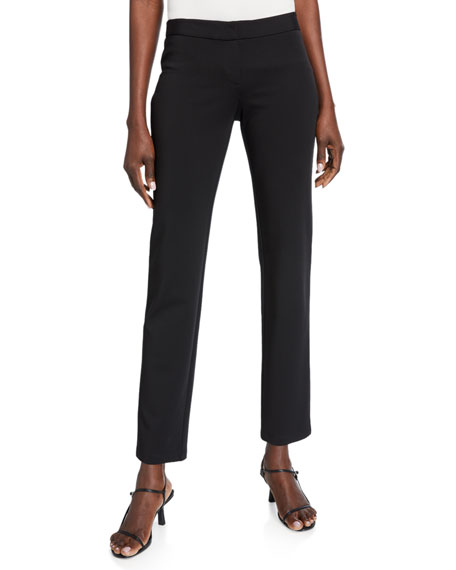 Lafayette 148 New York Waldorf Secco Stretch Straight-Leg Pants