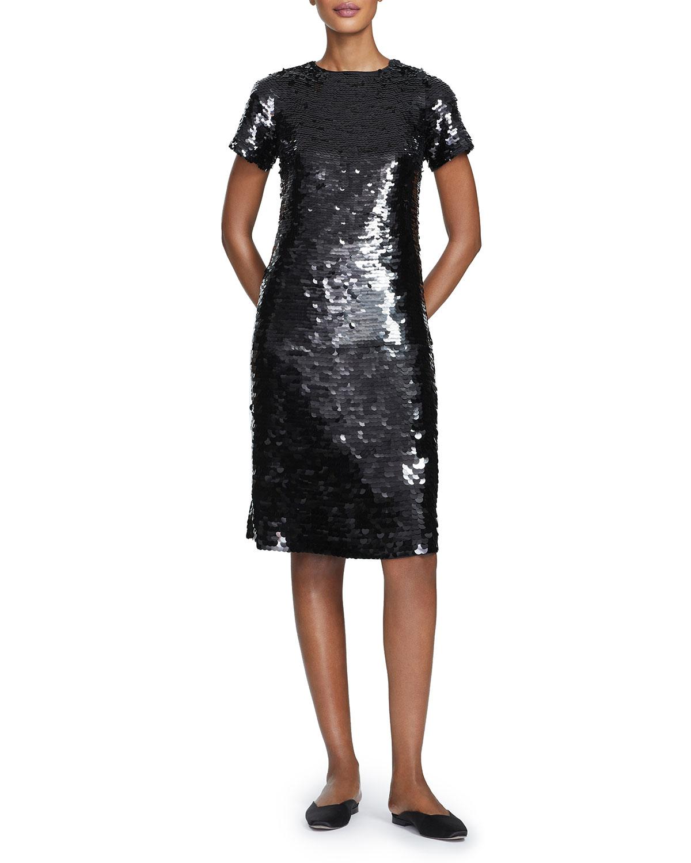 Lafayette 148 Dresses CASSIA OMBRE SEQUINS SHEATH DRESS