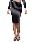 Good American Striped Midi Skirt - Inclusive Sizing