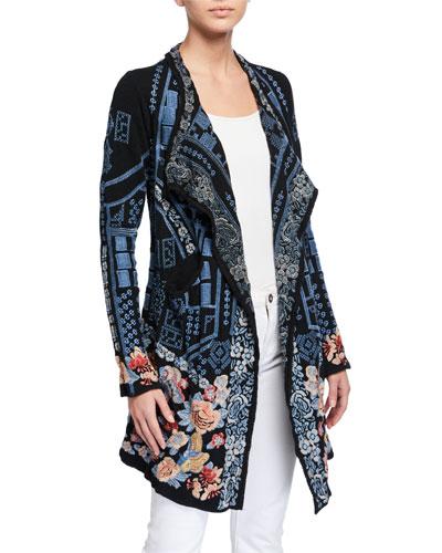 Plus Size Klori Embroidered Knit Jacket