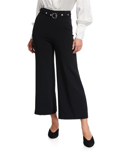 Polly Belted Wide-Leg Pants
