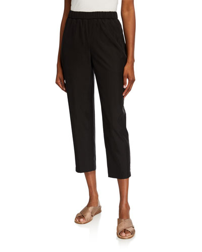 Sandwash Lyocell Tapered Ankle Pants w/ Pockets