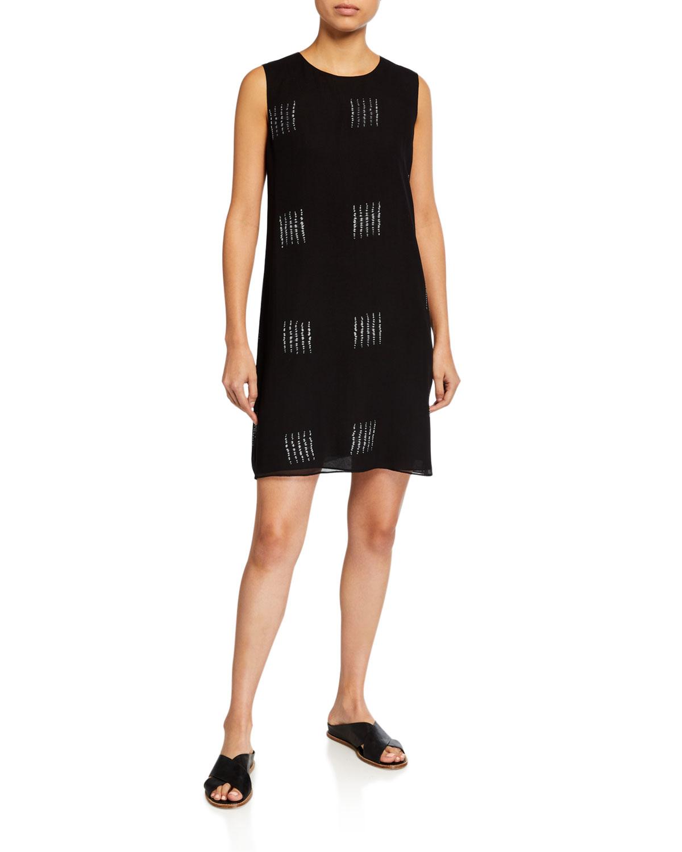 Eileen Fisher Dresses SILK SHIBORI BLOCK TANK DRESS