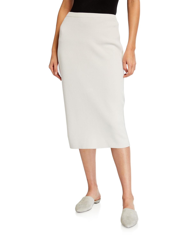 Eileen Fisher Skirts SILK/ORGANIC COTTON INTERLOCK STRAIGHT SKIRT