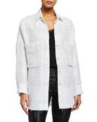 Iro Glenac Tweed Snap-Front Jacket