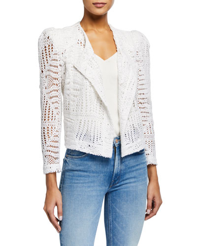 Elgua Open-Front Lace Jacket