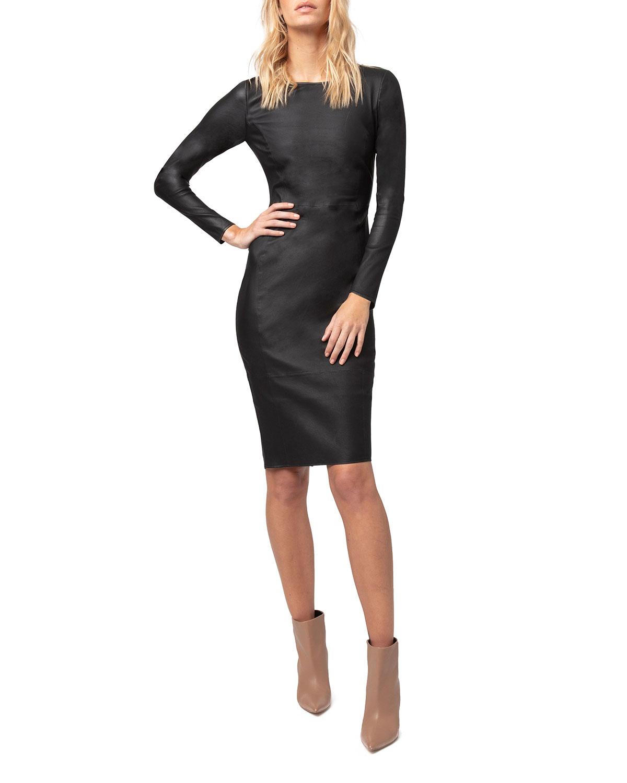 Mrs. Smith Stretch Leather Dress