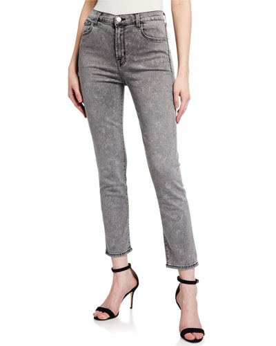 Ruby High-Rise Cropped Cigarette Jeans