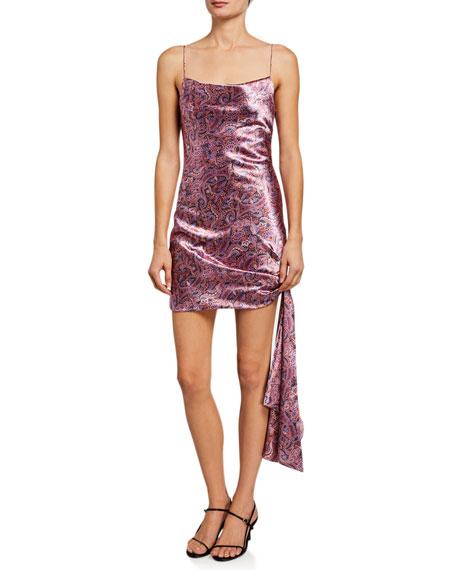 cinq a sept Ryder Paisley-Print Tie Dress