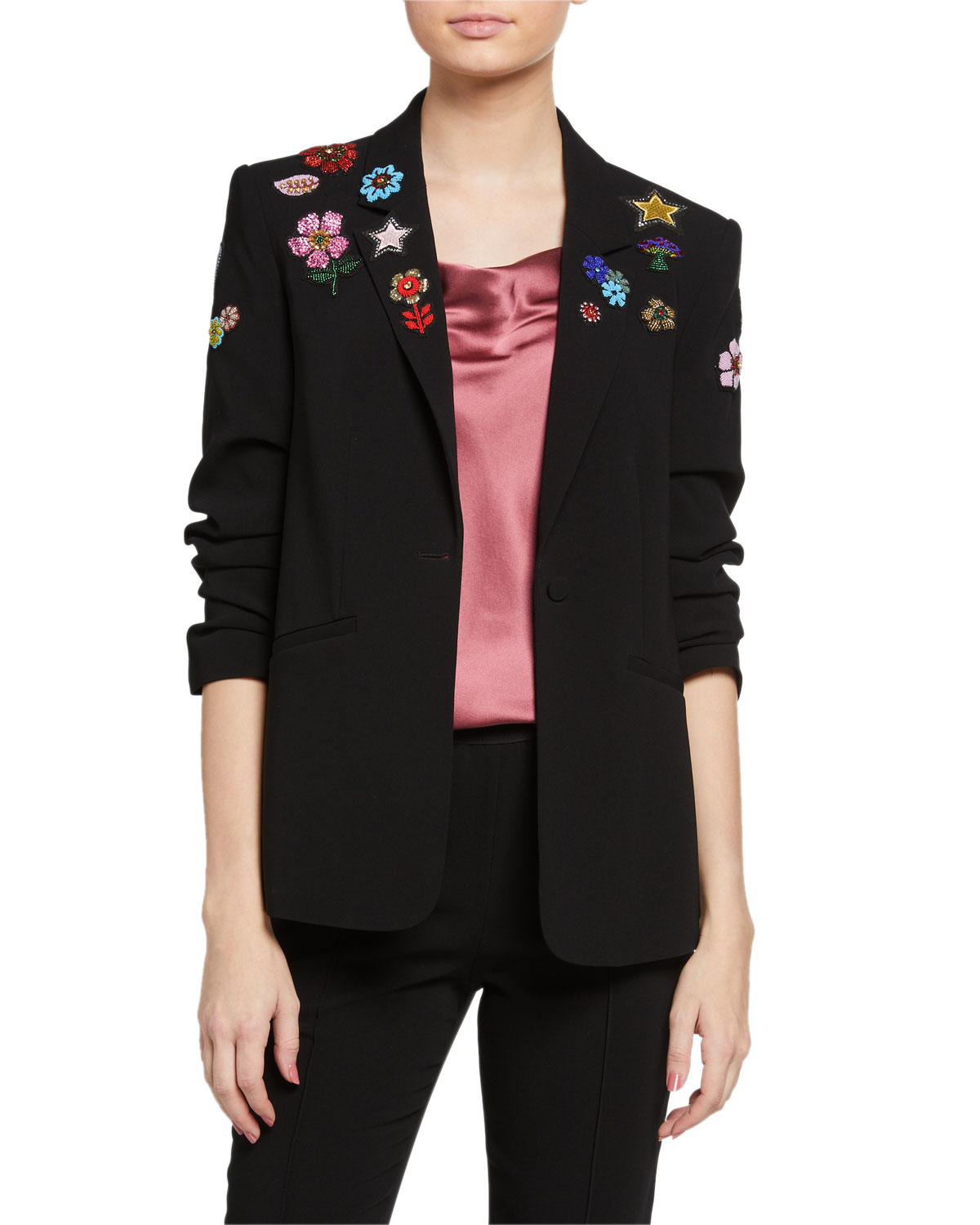 Cinq À Sept Linings KYLIE FLOWER POWER EMBROIDERED JACKET