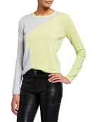 Lisa Todd Color Pop Wave Two-Tone Lightweight Sweater