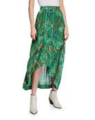 ba&sh Hall Floral-Print Maxi Skirt