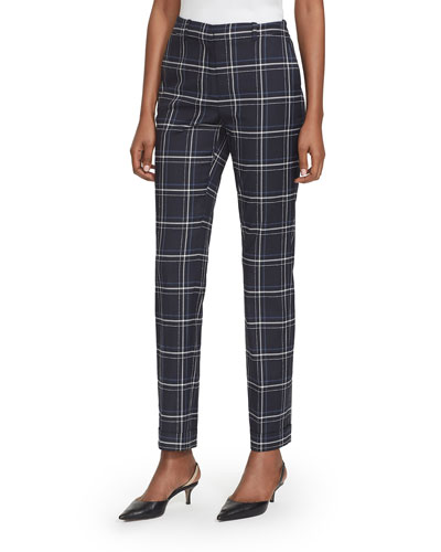 Clinton Fine Windowpane Plaid Cuffed Pants