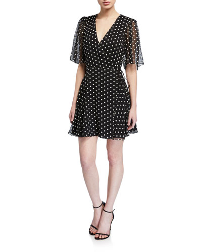 Sandra Printed Wrap Dress