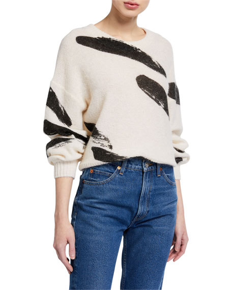 Joie Hassina Brushstroke Pullover Sweater