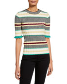 Joie Neily Striped Crewneck Sweater