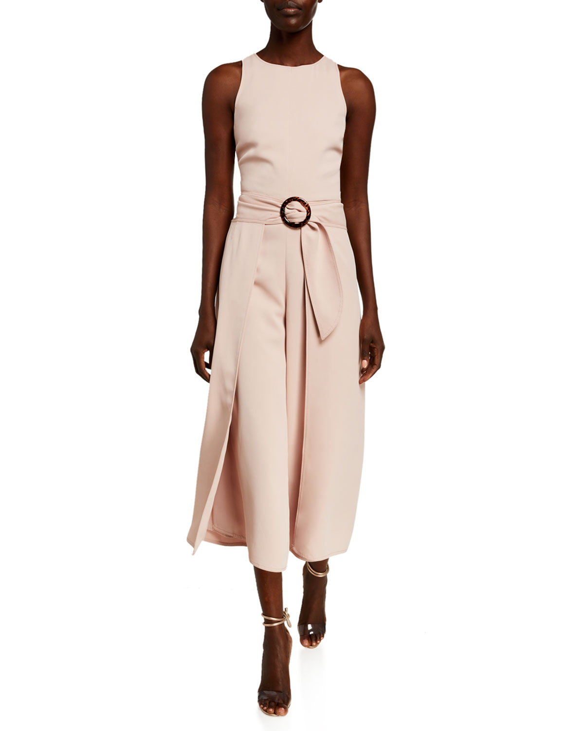 Joie MAIREAD BELTED DRAPED SLEEVELESS JUMPSUIT