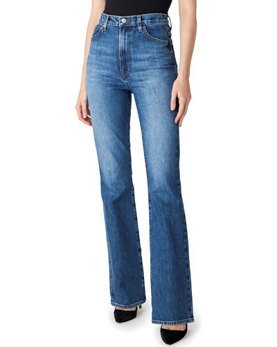 Runway High-Rise Boot-Cut Jeans