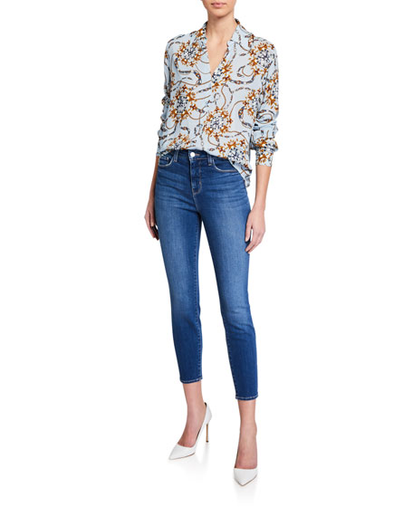 L'Agence Margot High-Rise Skinny Crop Jeans