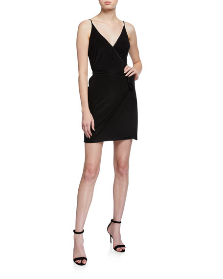 L'Agence Tate Sleeveless Wrap Dress