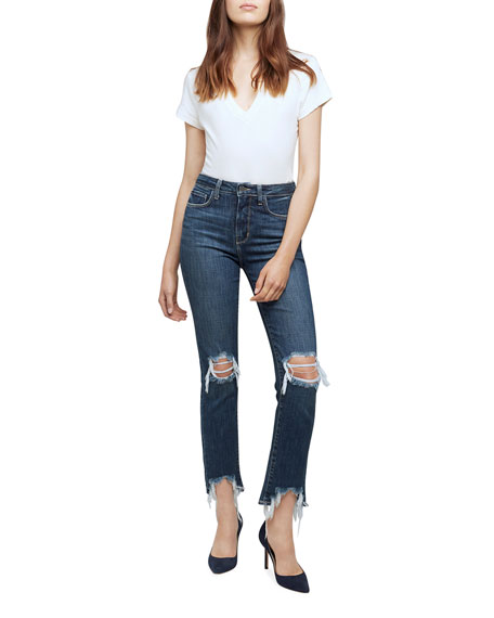 L'Agence High Line High-Rise Destroyed Skinny Jeans