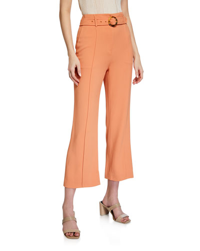 Florence Crepe Cropped Pants