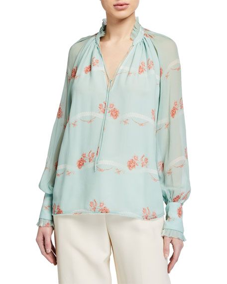Jonathan Simkhai Monica Rose Silk Top