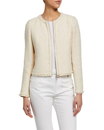 Charlie Portfolio Tweed Zip-Front Jacket