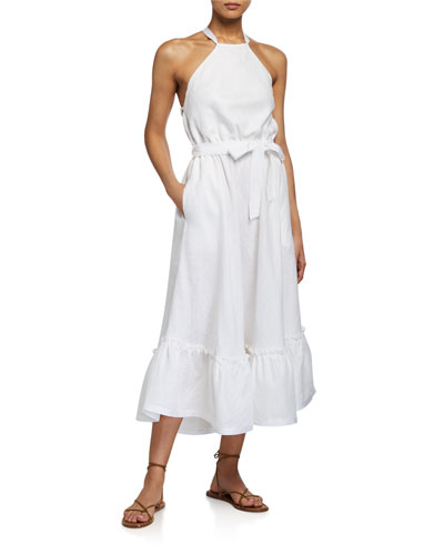 Open sleeves Linen Dress Linen Dress for women Loose Linen Dress Linen Drape Dress Summer Linen Dress Party Linen Dress