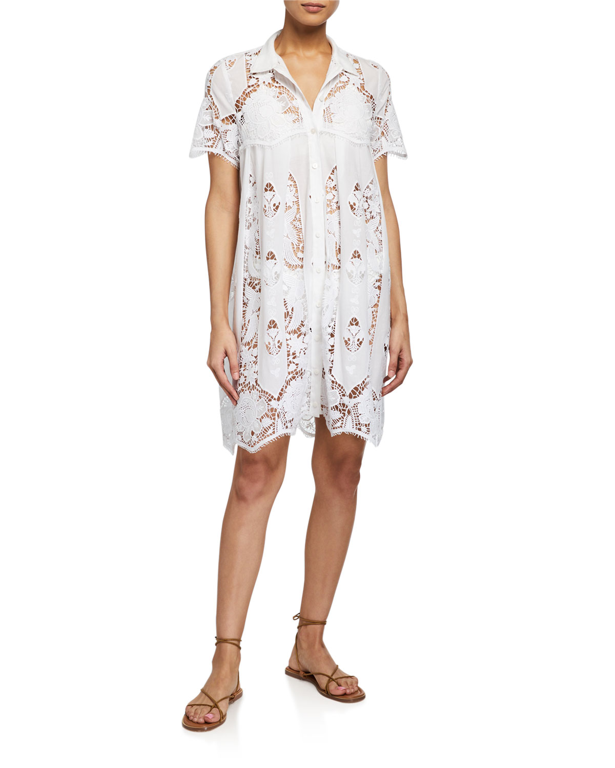 Miguelina ALANNA COVERUP DRESS W/ GRANADILLA COTTON EMBROIDERY