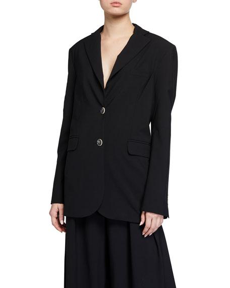 LESYANEBO Oversized Wool Jacket