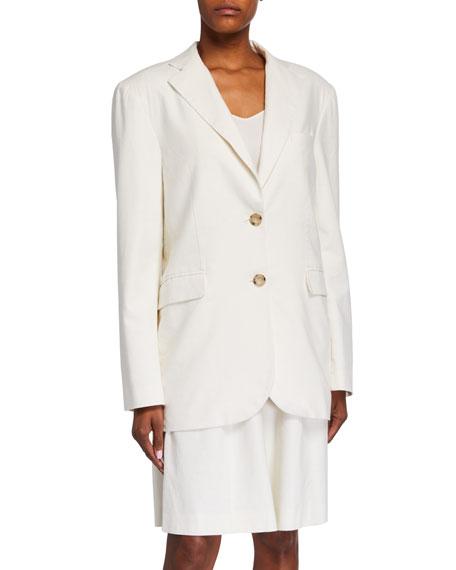 LESYANEBO Oversized Linen Jacket