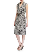 Lafayette 148 New York Florence Cheetah Print Sleeveless