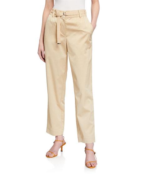 Lafayette 148 New York Dekalb Urbane Satin Cloth Ankle Pants