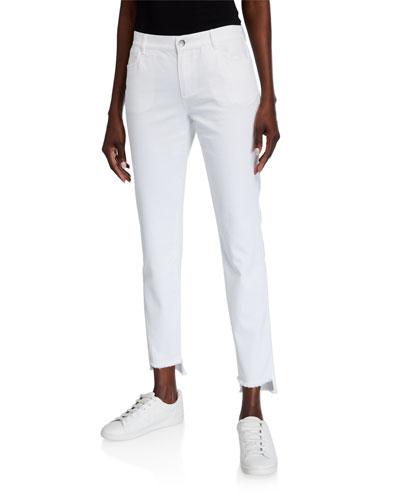 Mercer Yarn-Dyed Denim Step-Hem Ankle Jeans
